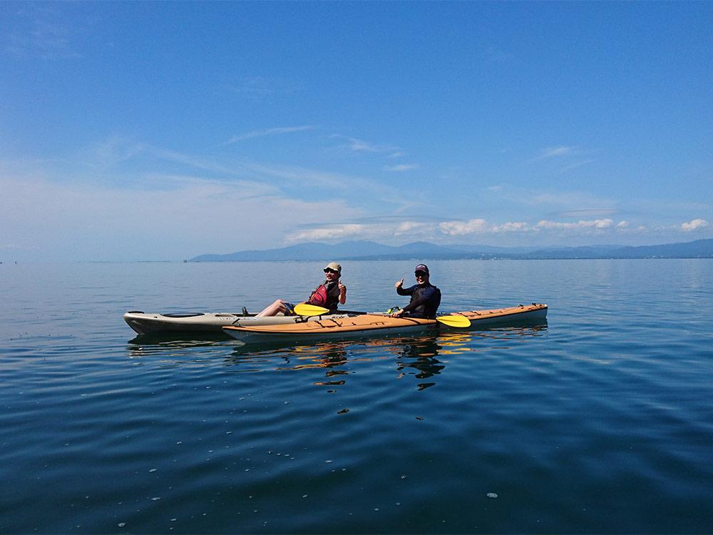 【ガイド付き】琵琶湖でカヌー体験!