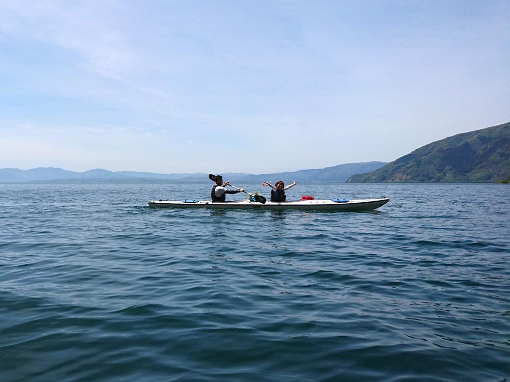 奥びわ湖の開放感に自然と大きくなった声にびっくり